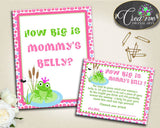 Baby Shower Dots Baby Prince Charming Measure Belly Size Amusement HOW BIG IS Mommys Belly, Instant Download, Party Supplies - bsf01 - Digital Product