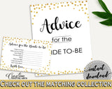 Advice Cards Bridal Shower Advice Cards Confetti Bridal Shower Advice Cards Bridal Shower Confetti Advice Cards Gold White prints CZXE5 - Digital Product
