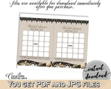 Brown And Beige Seashells And Pearls Bridal Shower Theme: Bingo Gift Game - empty bingo cards, bridal shower pearls, printables - 65924 - Digital Product
