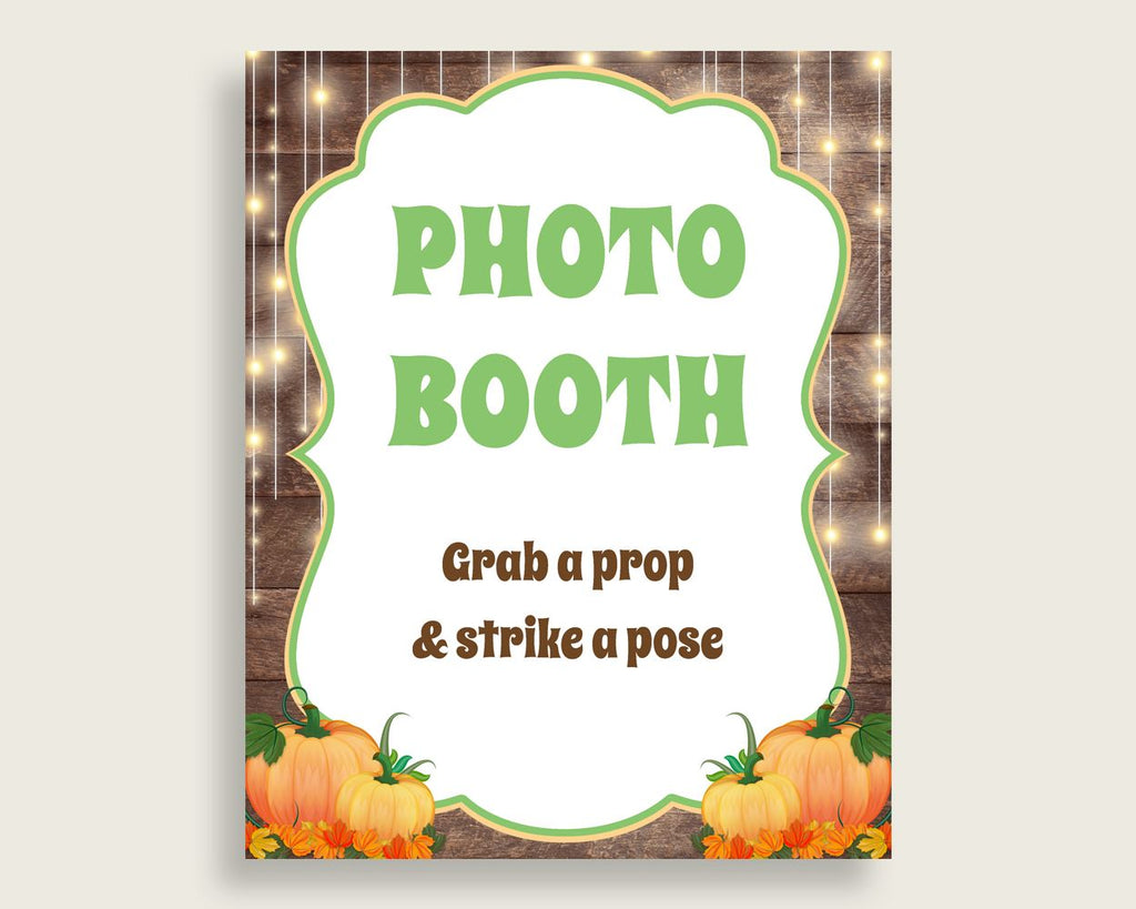 Photobooth Sign Baby Shower Photobooth Sign Autumn Baby Shower Photobooth Sign Baby Shower Autumn Photobooth Sign Brown Orange party 0QDR3 - Digital Product