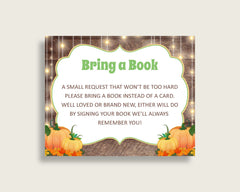 Bring A Book Baby Shower Bring A Book Autumn Baby Shower Bring A Book Baby Shower Autumn Bring A Book Brown Orange party organizing 0QDR3 - Digital Product