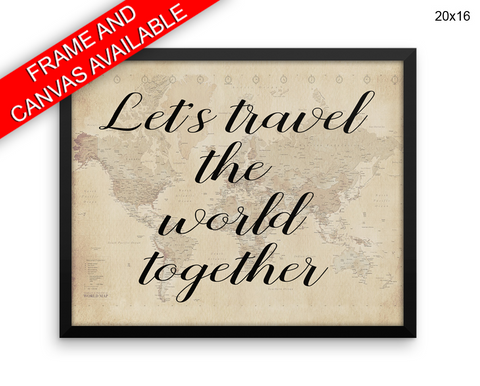 Travel Print, Beautiful Wall Art with Frame and Canvas options available Home Decor