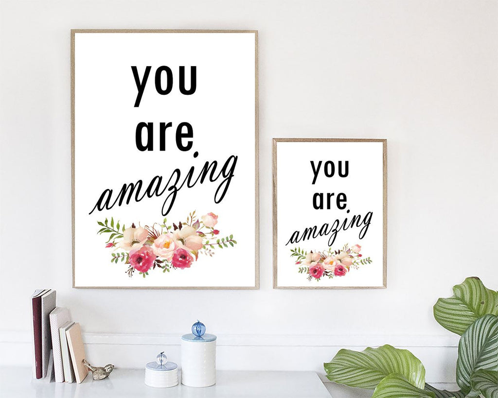 Wall Art You Are Amazing Digital Print You Are Amazing Poster Art You Are Amazing Wall Art Print You Are Amazing Typography Art You Are - Digital Download