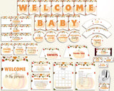 Decorations Baby Shower Decorations Autumn Baby Shower Decorations Baby Shower Pumpkin Decorations Orange Brown party planning party OALDE - Digital Product