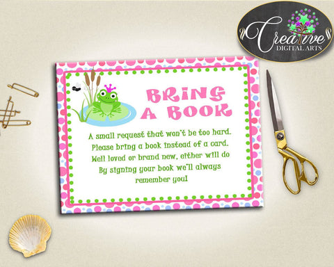 Baby Shower Animals Shower Frog Theme Smart Baby Guest Request BRING A BOOK, Party Plan, Digital Print, Party Theme - bsf01 - Digital Product
