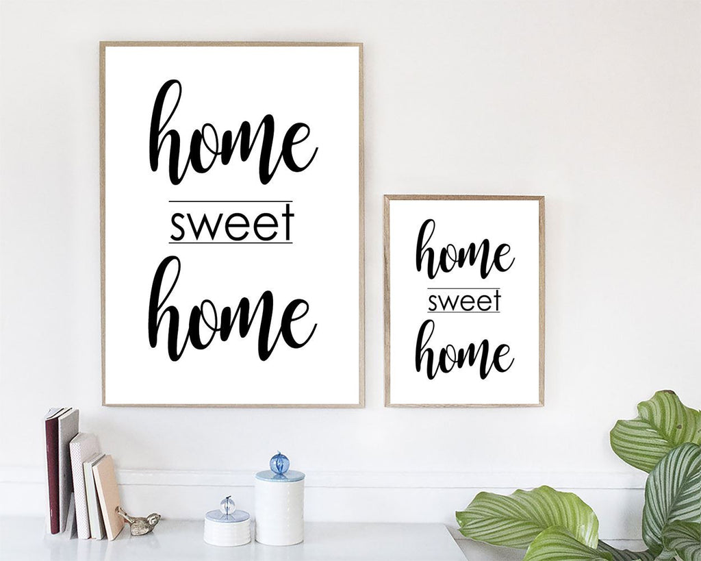 Wall Art Home Sweet Home Digital Print Home Sweet Home Poster Art Home Sweet Home Wall Art Print Home Sweet Home  Wall Decor Home Sweet Home - Digital Download