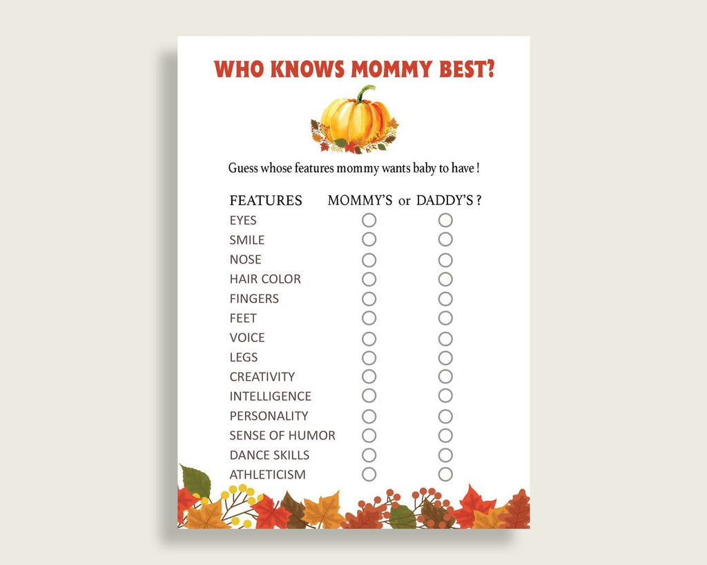 Who Knows Mommy Best Baby Shower Who Knows Mommy Best Fall Baby Shower Who Knows Mommy Best Baby Shower Pumpkin Who Knows Mommy Best BPK3D - Digital Product