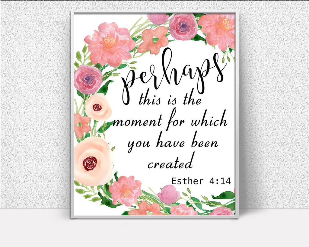 Wall Art Esther Digital Print Esther Poster Art Esther Wall Art Print Esther Scripture Art Esther Scripture Print Esther Wall Decor Esther - Digital Download