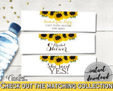 Bottle Labels Bridal Shower Bottle Labels Sunflower Bridal Shower Bottle Labels Bridal Shower Sunflower Bottle Labels Yellow White SSNP1 - Digital Product
