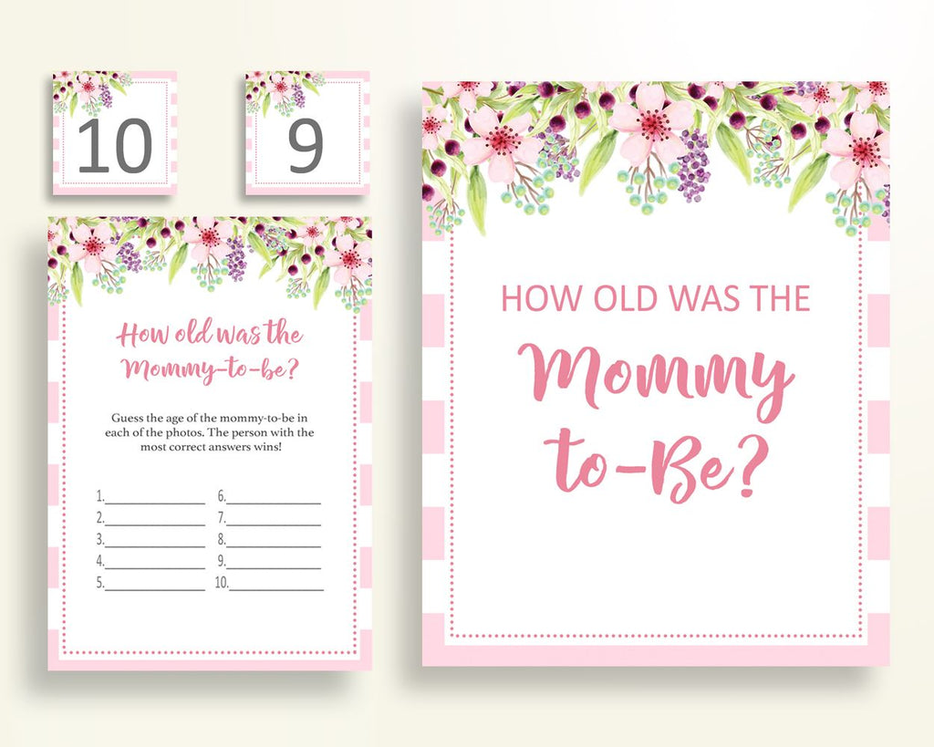 How Old Was Mommy Baby Shower How Old Was Mommy Pink Baby Shower How Old Was Mommy Baby Shower Flowers How Old Was Mommy Pink Green 5RQAG - Digital Product