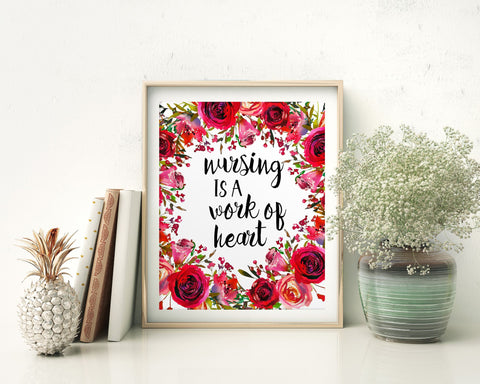 Wall Art Nursing Digital Print Nursing Poster Art Nursing Wall Art Print Nursing Nursery Art Nursing Nursery Print Nursing Wall Decor - Digital Download