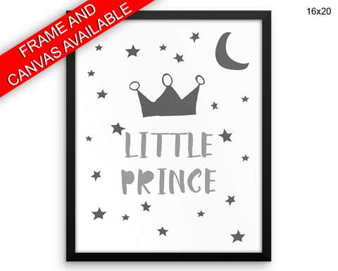 Crown Prince Print, Beautiful Wall Art with Frame and Canvas options available Nursery Decor