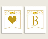 Banner Bridal Shower Banner Gold Hearts Bridal Shower Banner Bridal Shower Gold Hearts Banner White Gold paper supplies party theme 6GQOT