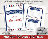 Advice Cards Baby Shower Advice Cards Baseball Baby Shower Advice Cards Baby Shower Baseball Advice Cards Blue Red prints, pdf jpg YKN4H - Digital Product
