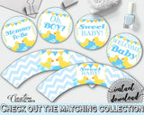 Baby Shower Pretty Yellow Ducky Cupcake Wrappers Cupcake Decor CUPCAKE TOPPERS AND Wrappers, Party Organising, Prints - rd002 - Digital Product