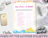 Price Is Right Baby Shower Price Is Right Rubber Duck Baby Shower Price Is Right Baby Shower Rubber Duck Price Is Right Purple Pink rd001