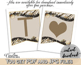 Banner in Seashells And Pearls Bridal Shower Brown And Beige Theme, bridal shower banner, sea shell bridal, digital download, prints - 65924 - Digital Product