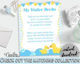 Baby Shower Cute Shower Donald Duck My Water Broke Ice Melting MY WATER BROKE, Party Organizing, Party Supplies, Pdf Jpg - rd002 - Digital Product
