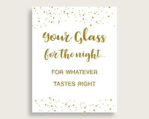 Your Glass For The Night Bridal Shower Your Glass For The Night Gold Bridal Shower Your Glass For The Night Bridal Shower Gold Your G2ZNX
