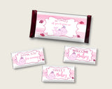 Pink Whale Hershey Candy Bar Wrapper Printable, Pink White Chocolate Bar Wrappers, Girl Shower Candy Labels, Instant Download, Popular wbl02
