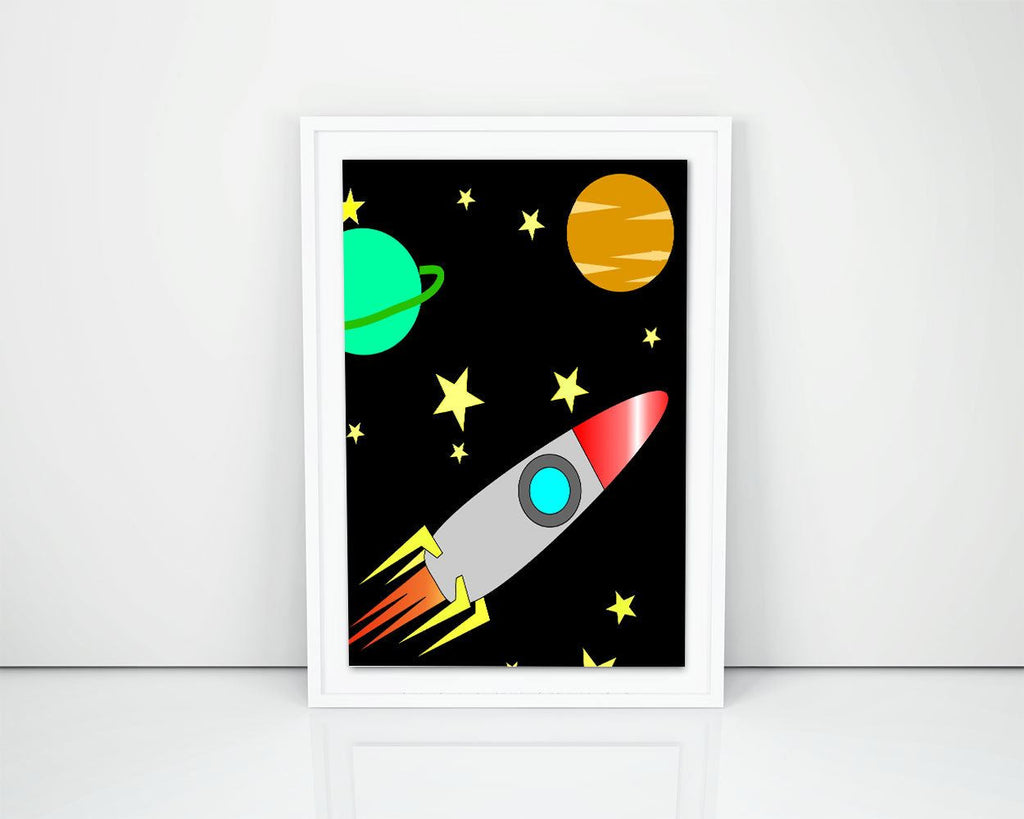 Wall Decor Stars Printable Rocket Prints Stars Sign Rocket Kids Room Art Rocket Kids Room Print Stars Printable Art Stars planet print - Digital Download