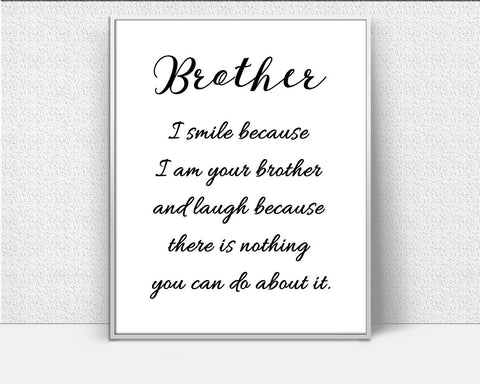 Brother Framed Print Available Definition Canvas Print Available Brother Family Art Definition Family Print Brother Printed Definition Gift - Digital Download