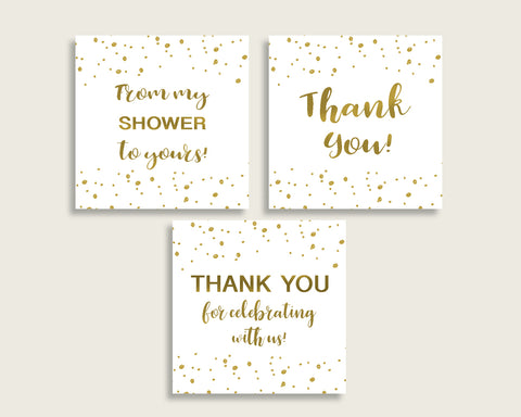 Favor Tags Bridal Shower Favor Tags Gold Bridal Shower Favor Tags Bridal Shower Gold Favor Tags Gold White printables digital print G2ZNX