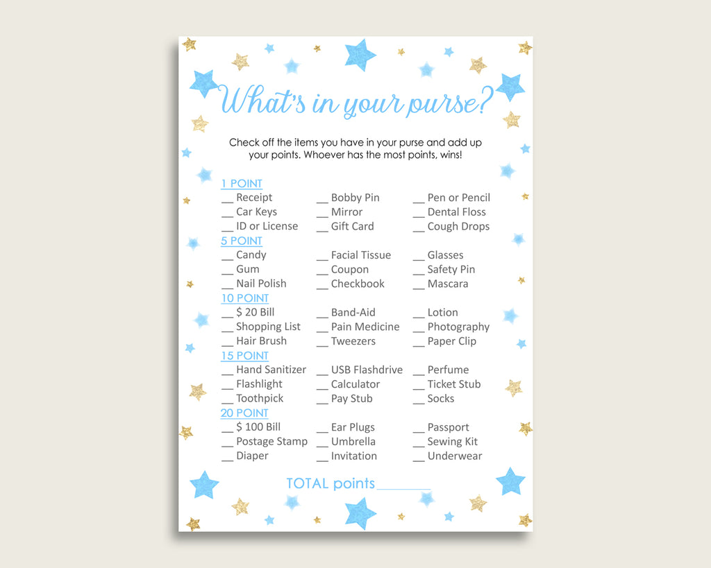 photograph regarding What's in Your Purse Game Printable titled Famous people Whats Within just Your Purse Match Printable, Blue Gold Whats Within Your Purse, Boy Child Shower Purse Match, Immediate Obtain, Maximum Notable bsr01