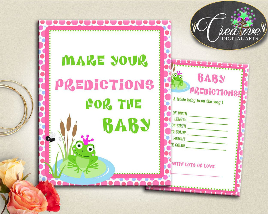 Baby Shower Kermit Baby Shower Frog Eye Color Hair Color PREDICTIONS FOR BABY, Party Organising, Party Décor, Printables - bsf01 - Digital Product