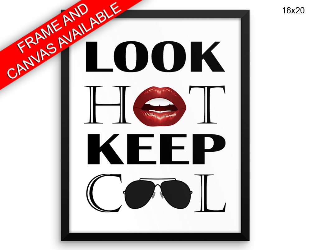 Cool Hot Print, Beautiful Wall Art with Frame and Canvas options available Beauty Decor