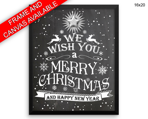 Christmas Print, Beautiful Wall Art with Frame and Canvas options available Christmas Decor