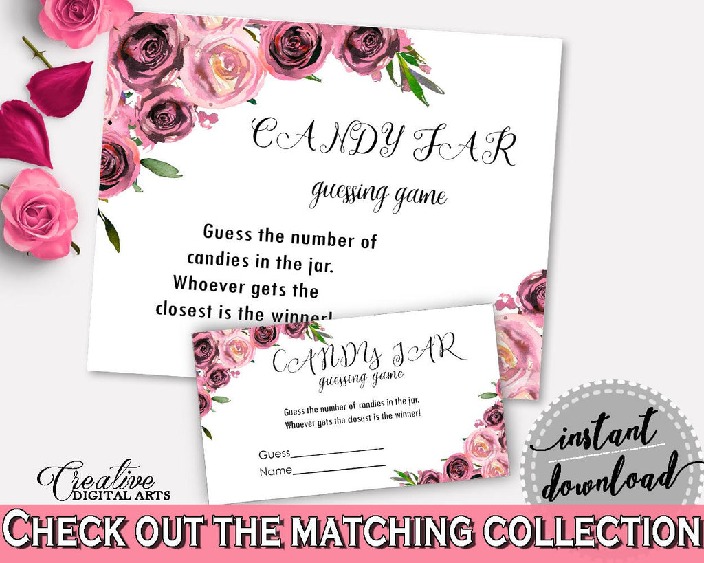 Candy Guessing Game Bridal Shower Candy Guessing Game Floral Bridal Shower Candy Guessing Game Bridal Shower Floral Candy Guessing BQ24C - Digital Product