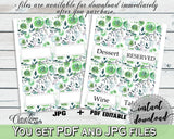 Food Tent Bridal Shower Food Tent Botanic Watercolor Bridal Shower Food Tent Bridal Shower Botanic Watercolor Food Tent Green White 1LIZN - Digital Product