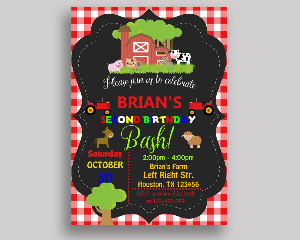 farm birthday invitation farm birthday party invitation farm