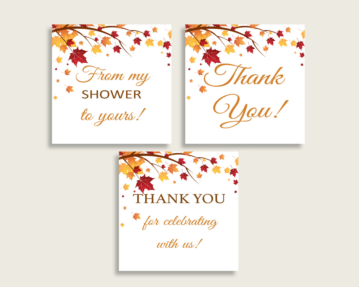Favor Tags Bridal Shower Favor Tags Fall Bridal Shower Favor Tags Bridal Shower Autumn Favor Tags Brown Yellow party planning YCZ2S