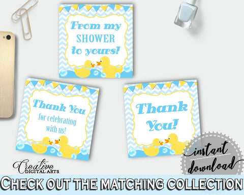 Baby Shower Pretty Baby Shower Rubber Favor Tags Favour Sickers FAVOR TAGS, Party Organising, Party Décor, Printables - rd002 - Digital Product