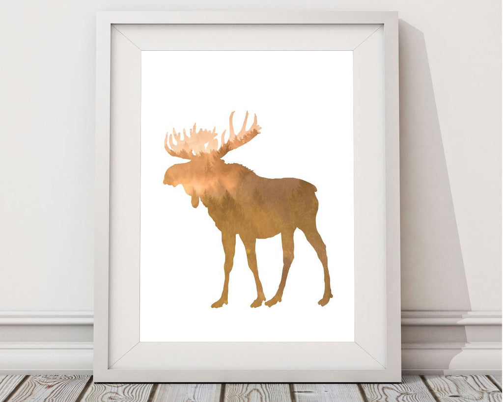 Wall Art Moose Digital Print Forrest Poster Art Moose Wall Art Print Forrest Rustic Art Forrest Rustic Print Moose Wall Decor Moose - Digital Download