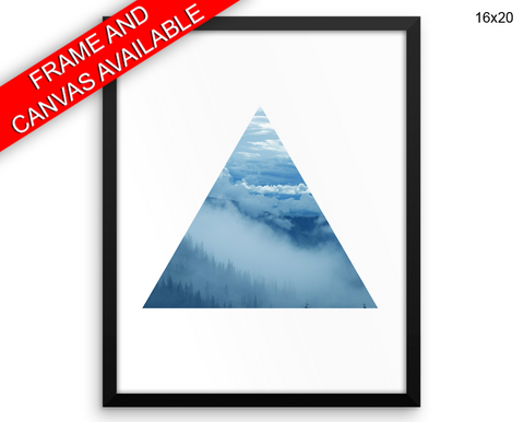 Triangle Fog Print, Beautiful Wall Art with Frame and Canvas options available Bedroom Decor