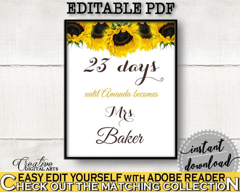 Days Until Becomes Bridal Shower Days Until Becomes Sunflower Bridal Shower Days Until Becomes Bridal Shower Sunflower Days Until SSNP1 - Digital Product
