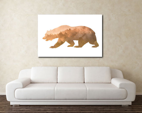 Wall Art Forest Digital Print Bear Poster Art Forest Wall Art Print Bear  Wall Decor Forest mountain bear brown bear rustic decor - Digital Download
