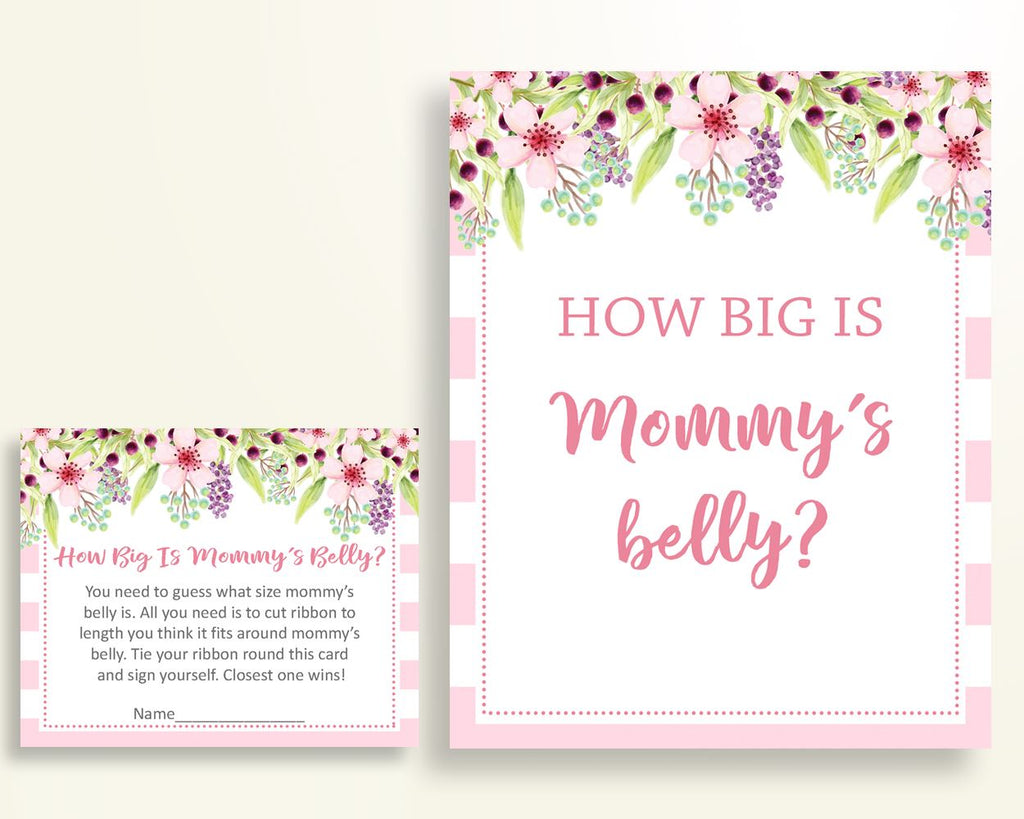 Mommy's Belly Baby Shower Mommy's Belly Pink Baby Shower Mommy's Belly Baby Shower Flowers Mommy's Belly Pink Green party stuff party 5RQAG - Digital Product