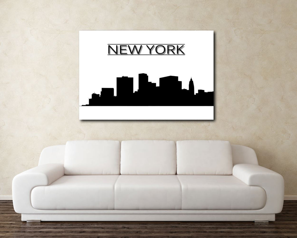 Wall Art New York Skyline Digital Print New York Skyline Poster Art New York Skyline Wall Art Print New York Skyline  Wall Decor New York - Digital Download