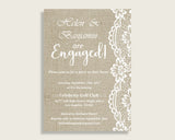 Engagement Invitation Bridal Shower Engagement Invitation Burlap And Lace Bridal Shower Engagement Invitation Bridal Shower Burlap And NR0BX