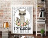 Wall Art Stay Curious Digital Print Stay Curious Poster Art Stay Curious Wall Art Print Stay Curious Kids Art Stay Curious Kids Print Stay - Digital Download