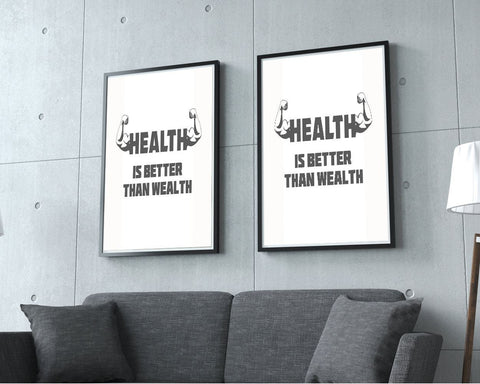 Wall Art Health Digital Print Health Poster Art Health Wall Art Print Health Gym Art Health Gym Print Health Wall Decor Health wealth - Digital Download