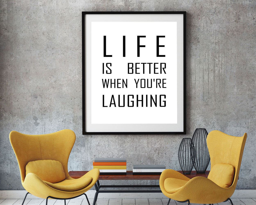 Wall Art Laughing Digital Print Laughing Poster Art Laughing Wall Art Print Laughing Typography Art Laughing Typography Print Laughing Wall - Digital Download