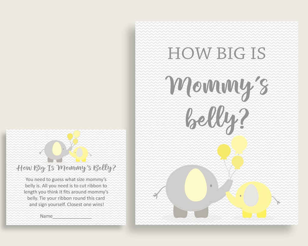 Mommy's Belly Baby Shower Mommy's Belly Yellow Baby Shower Mommy's Belly Baby Shower Elephant Mommy's Belly Yellow Gray party décor W6ZPZ