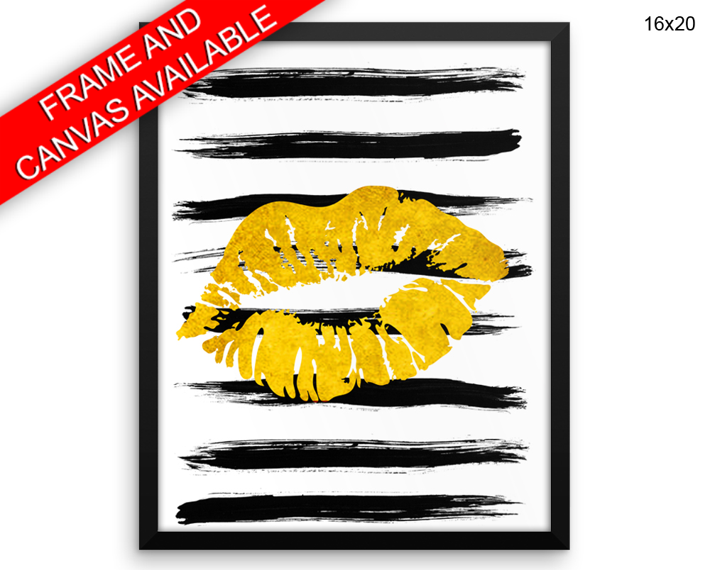 Lips Print, Beautiful Wall Art with Frame and Canvas options available Beauty Decor