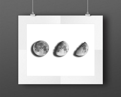 Wall Art Moon Digital Print Moon Poster Art Moon Wall Art Print Moon Bedroom Art Moon Bedroom Print Moon Wall Decor Moon universe decor - Digital Download