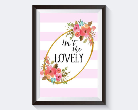 Wall Art Isn't She Lovely Digital Print Isn't She Lovely Poster Art Isn't She Lovely Wall Art Print Isn't She Lovely Quote Art Isn't She - Digital Download